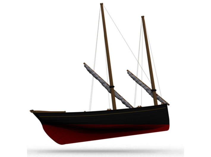 Nbat51 - Old fishing boat 3d printed
