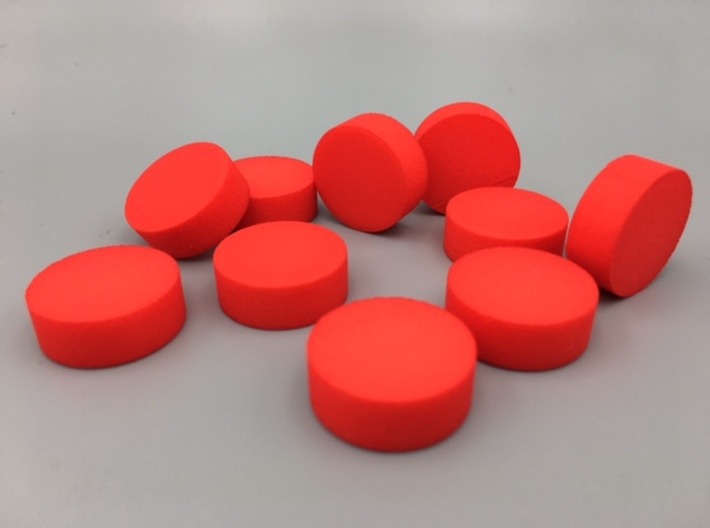 Cylindrical Coin Set - Ratio 1 : 2*sqrt2 3d printed 10 coins in the 1:2*sqrt(2) ratio