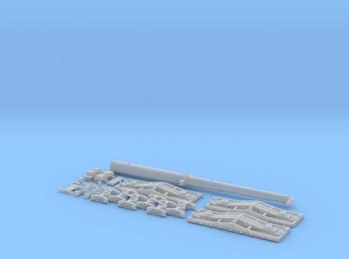 Naval Gun & F22 Box Set - N 3d printed Naval Gun & F22 Flatcars - FUD Render