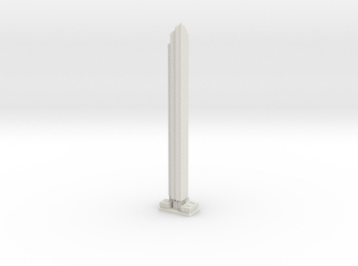 World Trade Center Residential Tower (1:2000) 3d printed