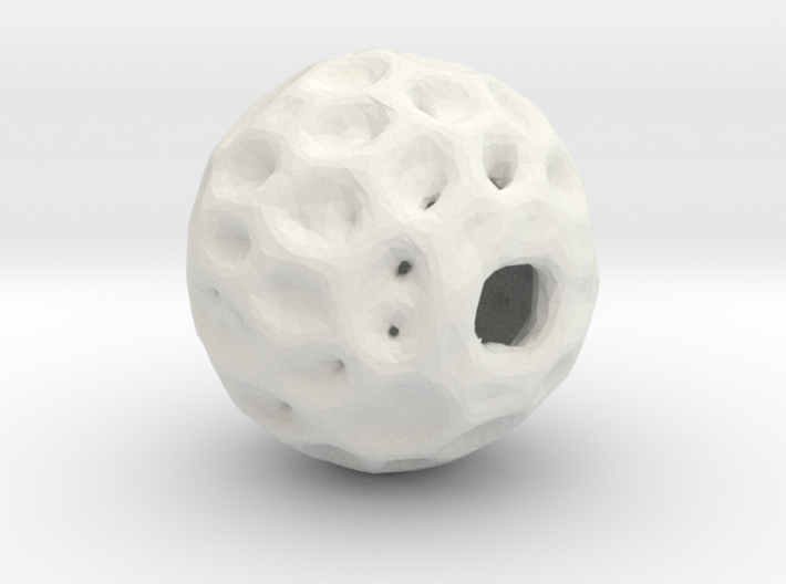 An organic hive pendant 3d printed