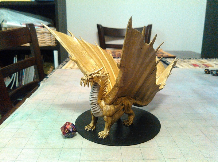 Ancient Gold Dragon 3d printed