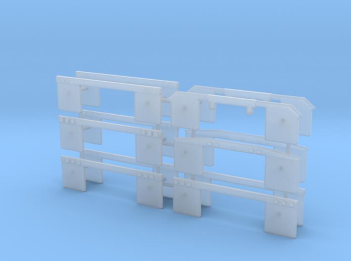 1/64th Set of 12 truck mudflap light bars 3d printed