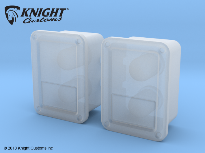 TR30002 TRX4 JK REAR light buckets 3d printed