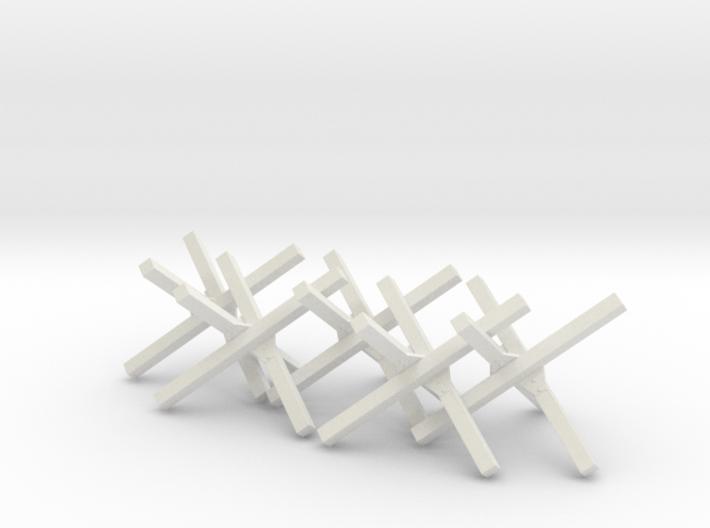 Hedgehog Barrier Ver01. O Scale (1:48) 3d printed