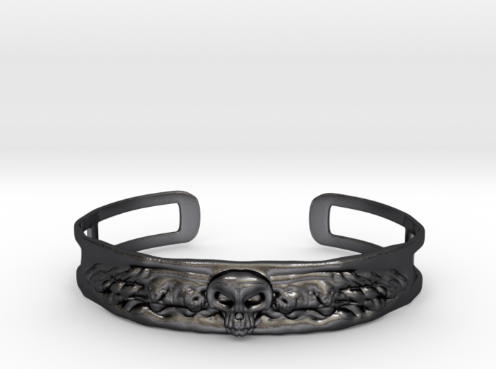 Skull and Wings Bracelet - Small 3d printed
