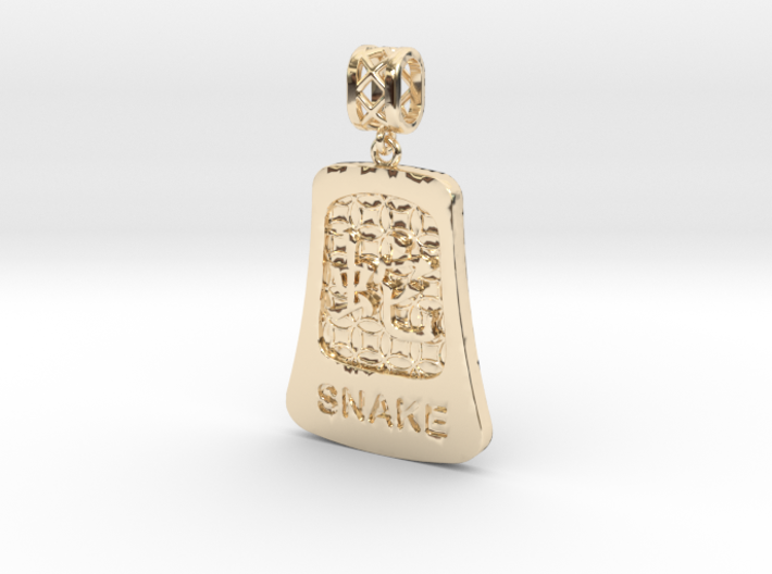 Chinese 12 animals pendant with bail - thesnake 3d printed