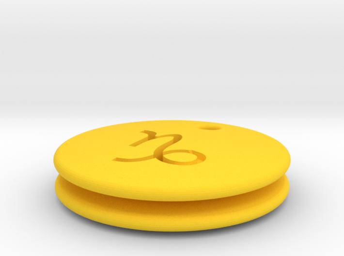 Capricorn Symbol Earring 3d printed