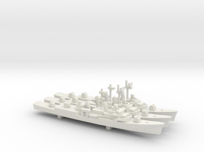 Forrest Sherman-Class DD set, 3pc ,1/1800 3d printed