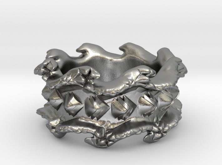 Ocean Wave Ring 3d printed