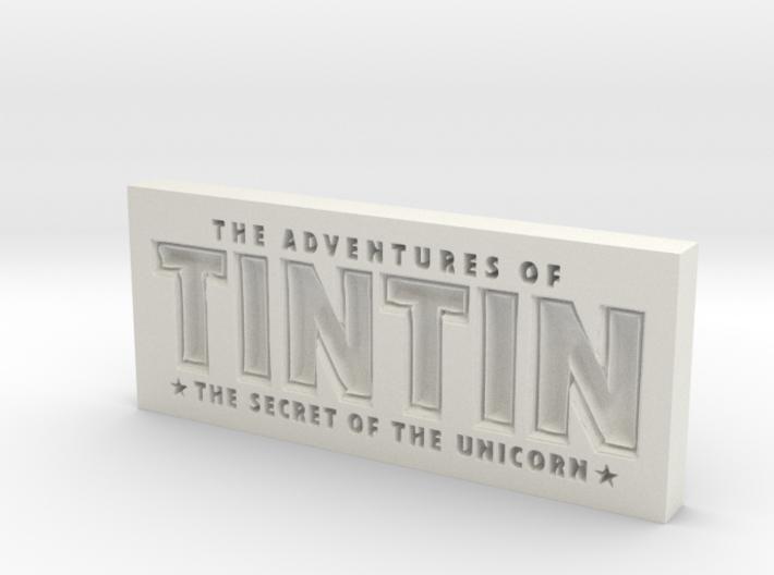 Tintin Logo 3d printed