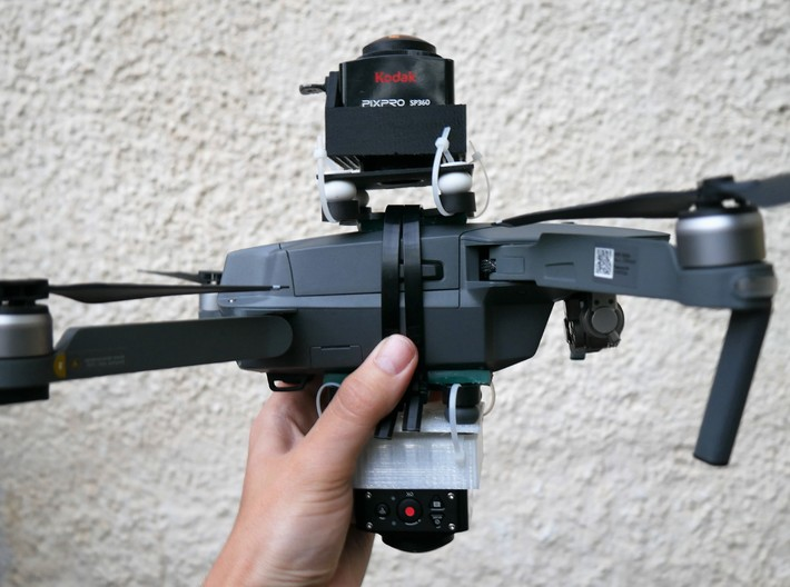 Kodak SP360 4K Top Mount For the DJI Mavic Pro 3d printed