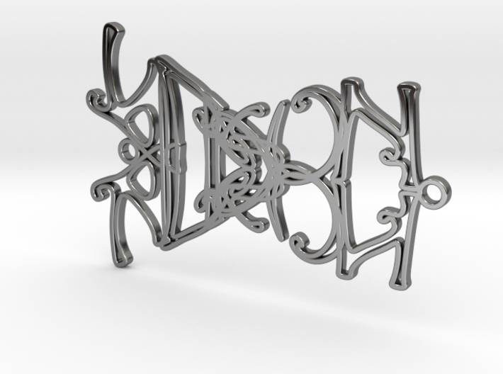 Personalised Mirrored Name Necklace (003) 3d printed