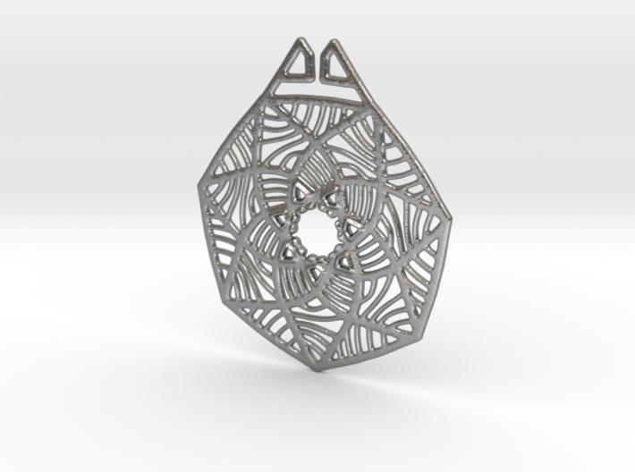 Grass Flower Pendant 3d printed