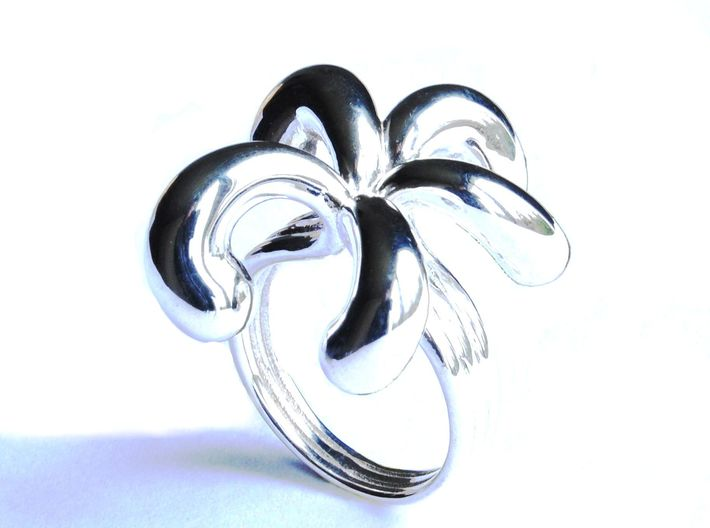 Water Drops Ring (From $19) 3d printed Water Drops Ring Silver Jewellery