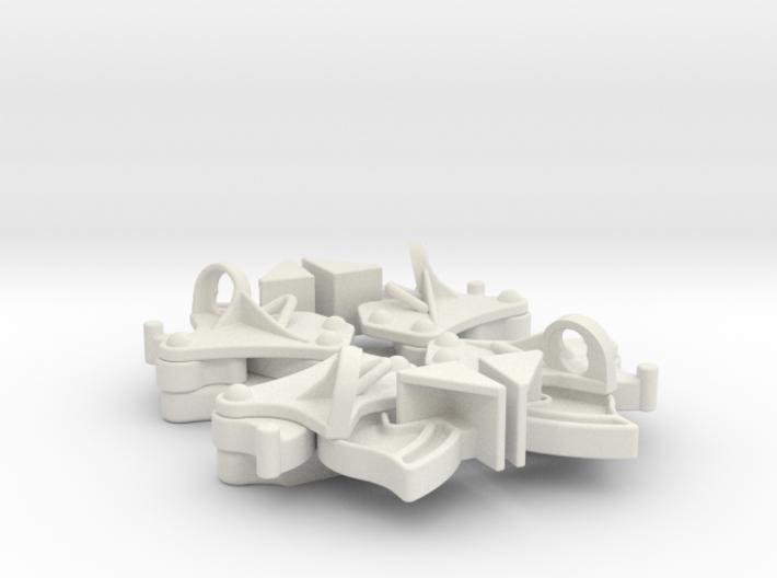 Hopper pocket latches (4) 3d printed