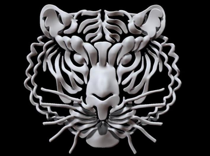 Tiger's head 3d printed