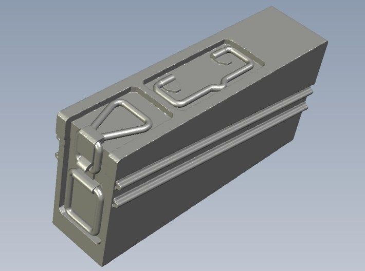 1/10 scale WWII Wehrmacht MG-42 ammo canister x 1 3d printed