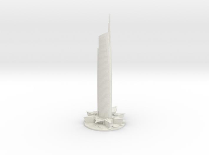 Almas Tower (1:2000) 3d printed
