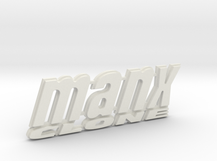 """MANX CLONE"" rear badge. 3d printed"