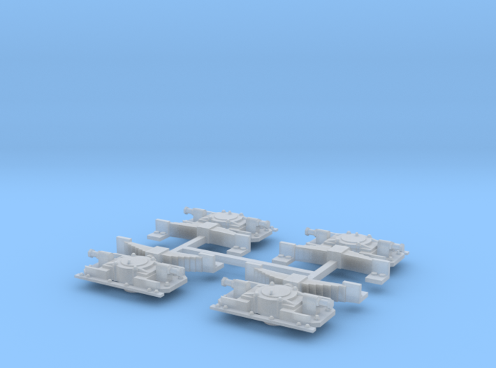 Aspot Oersik Spoor 0 set van 4 3d printed
