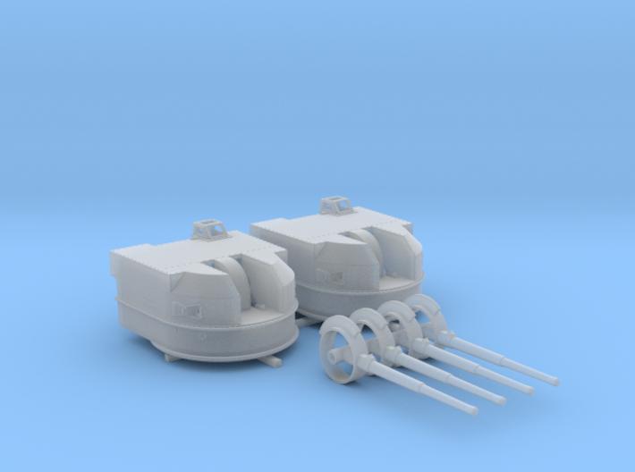 "1/192 Battle Class 4.5""/45 QF MKIV RP10 Gun x2 3d printed 1/192 Battle Class 4.5""/45 QF MKIV RP10 Gun x2"