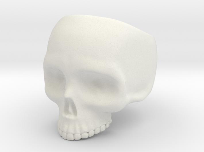 Skull Ring v3 - Size 6 3d printed