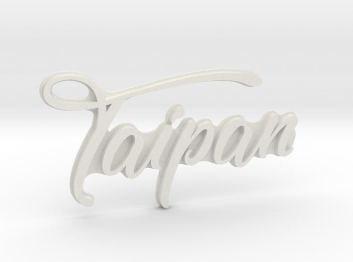 """""""TAIPAN"""" rear badge 3d printed"""