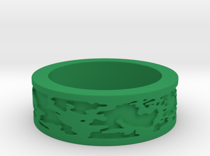 Camo Ring Size 7 3d printed