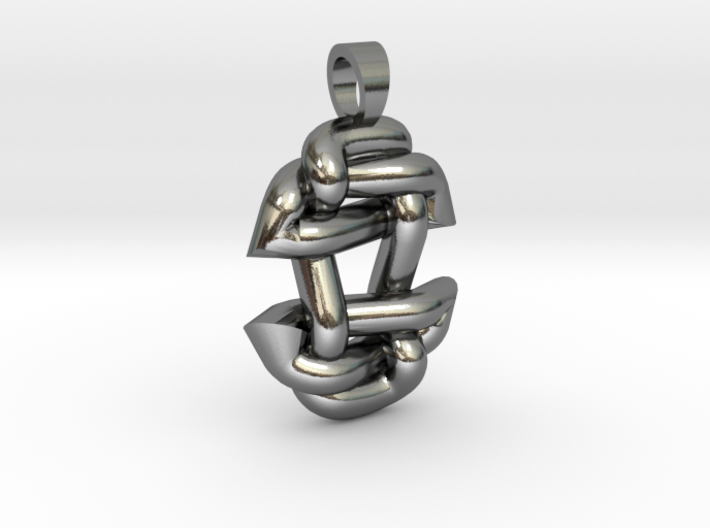Asiatic style knot [pendant] 3d printed