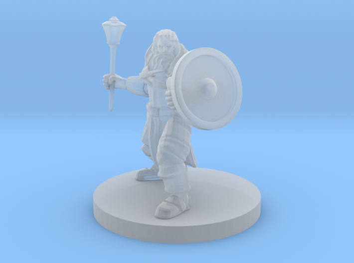 Cleric of Battle with Mace 3d printed