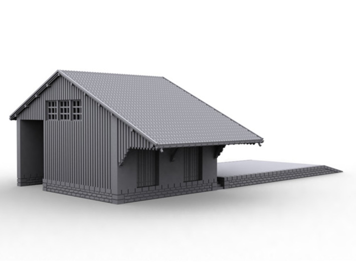 ZBay06a - Warehouse, quay 3d printed
