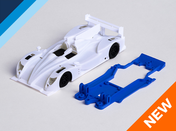 1/32 Oreca 03 Chassis for Slot.it pod 3d printed Chassis compatible with SV Workz Oreca 03 body (not included)