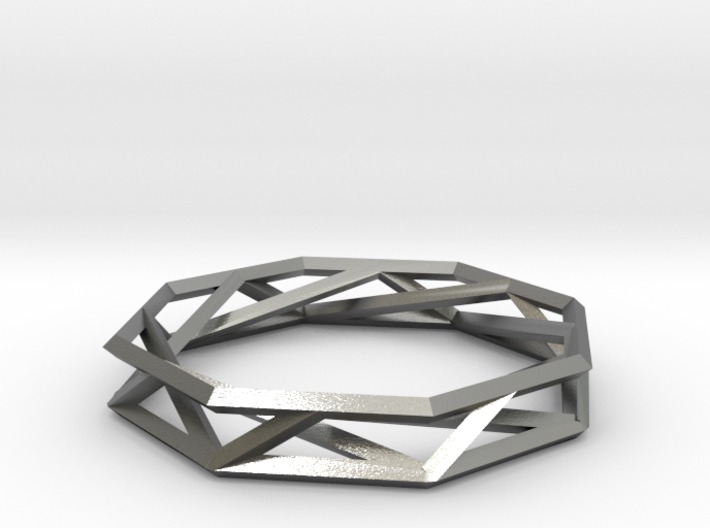 Octagon Wireframe Geometric Ring 3d printed