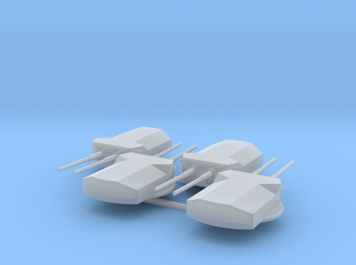 1:700 SMS Ersatz Yorck Turrets 3d printed