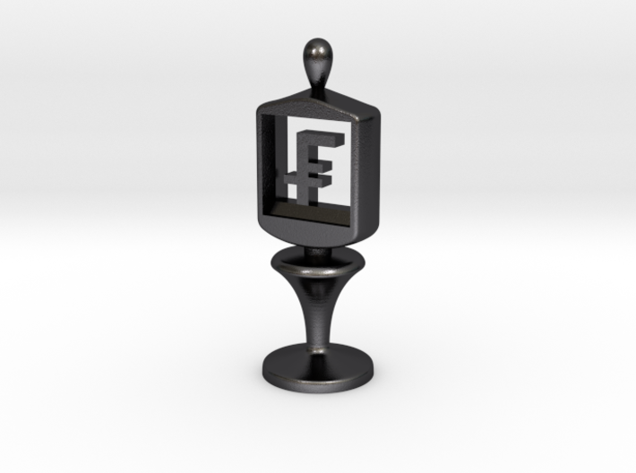 Currency symbol figurine,Franc 3d printed