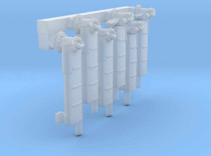 1/72 Elco PT Boat Mufflers Set001 3d printed