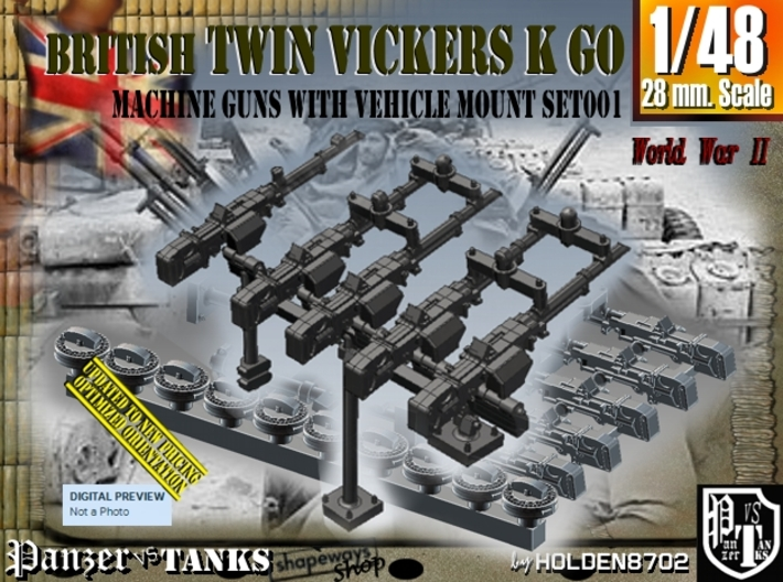 1/48 Vickers K GO Set001 3d printed