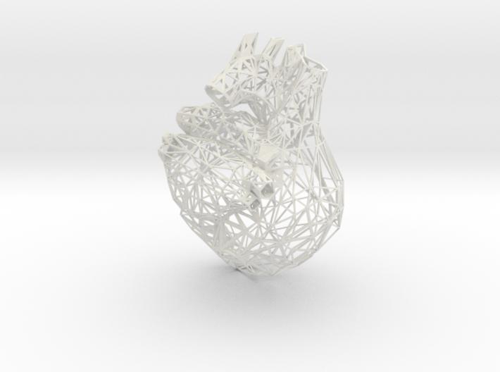lattice human heart 3d printed