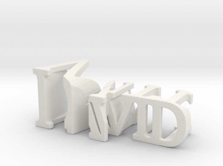 3dWordFlip: David/Witt 3d printed