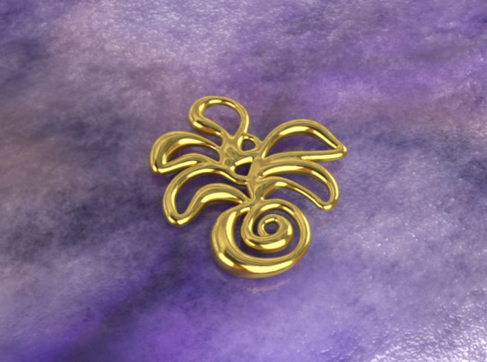 Tropical island 3d printed gold material