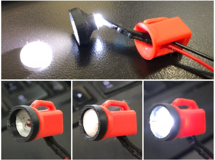 1/10 Scale Flashlight lens 3d printed