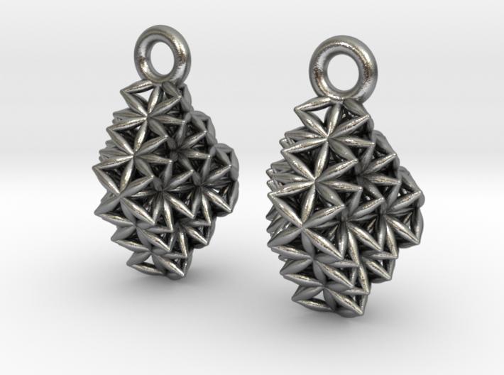Time Crystal Earrings 3d printed