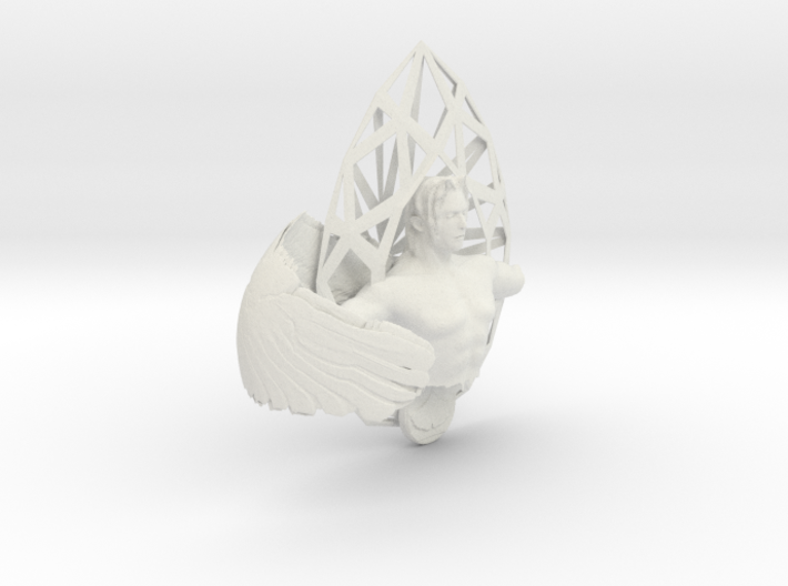 One-winged angel and ginkgo 3d printed