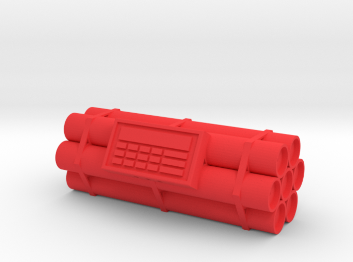 TNT dynamite bomb - 7 sticks - 1:1 scale 3d printed