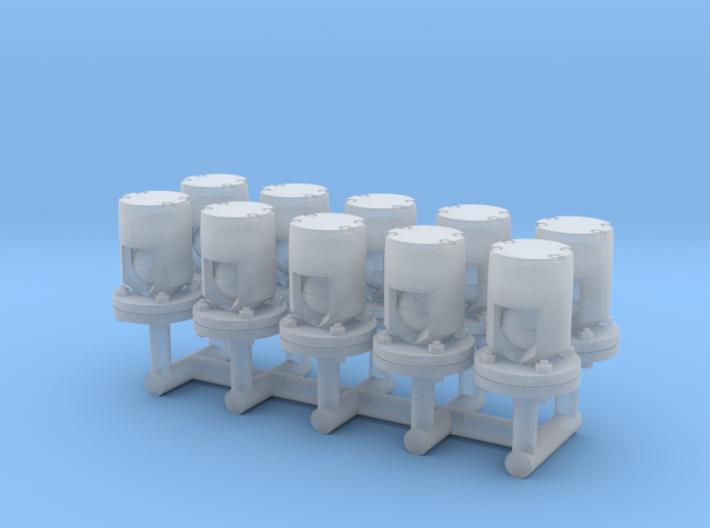 Winteb Air pipe heads_DN50 for damen ships 3d printed