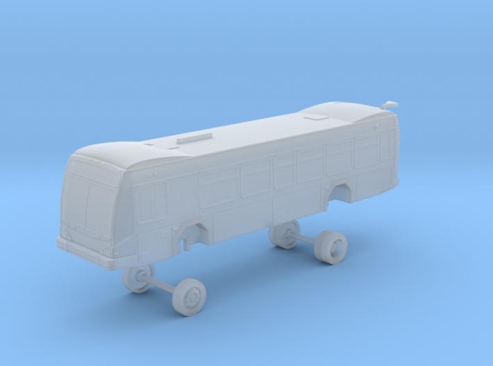 N Scale Bus Gillig BRT 35' Westcat 155-160 3d printed