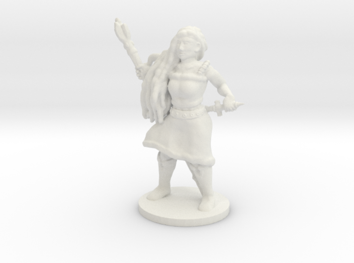 Female Caster with Base 3d printed