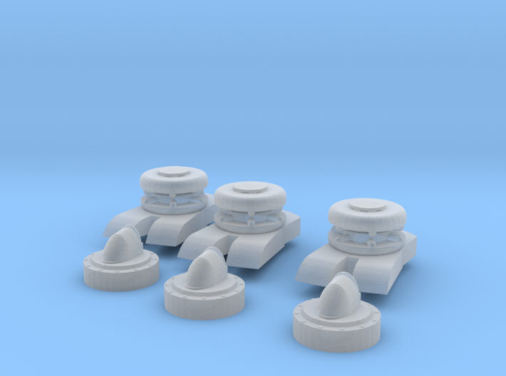 1/200 HMS Rodney chain bow stopper-howse pipe SET 3d printed