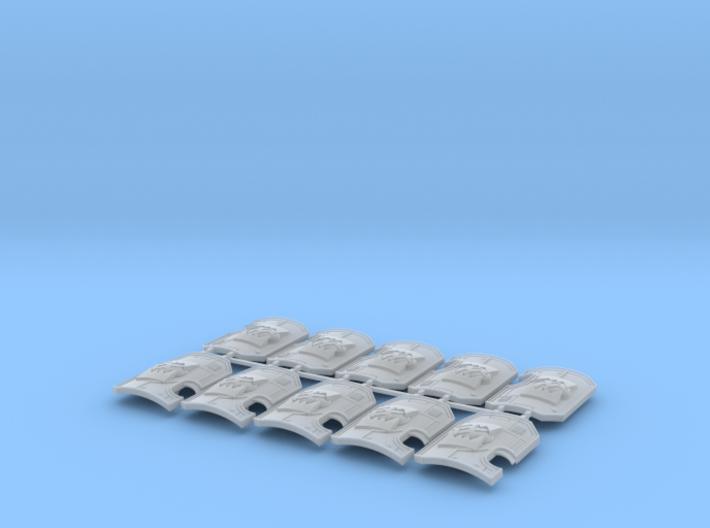 World Wreckers - Marine Boarding Shield w/Hand x10 3d printed